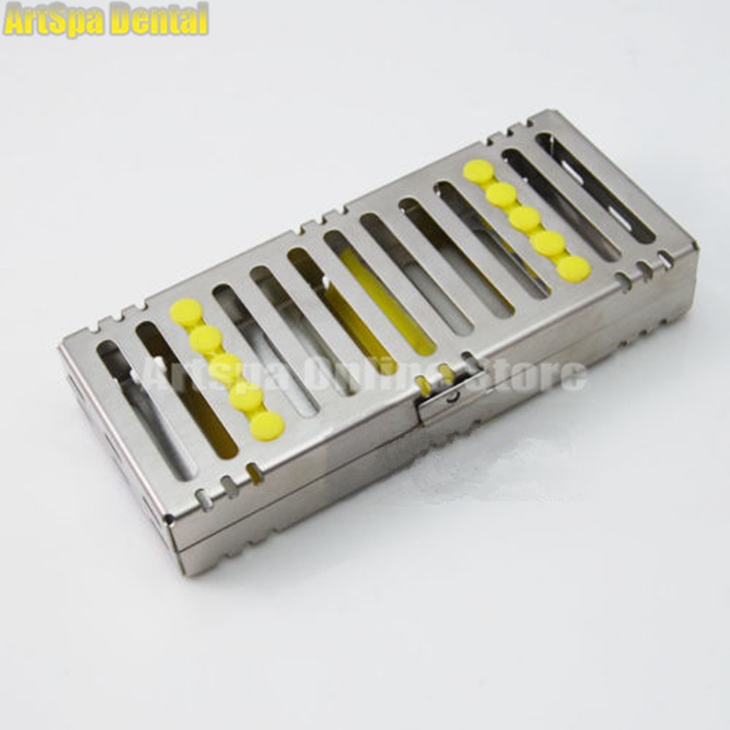 Dental Sterilization Cassette Rack Tray Box for 5 Dental Surgical Instruments for Dentist 1pc dental tool implant bur drill sterilization cassette kit organizer box new