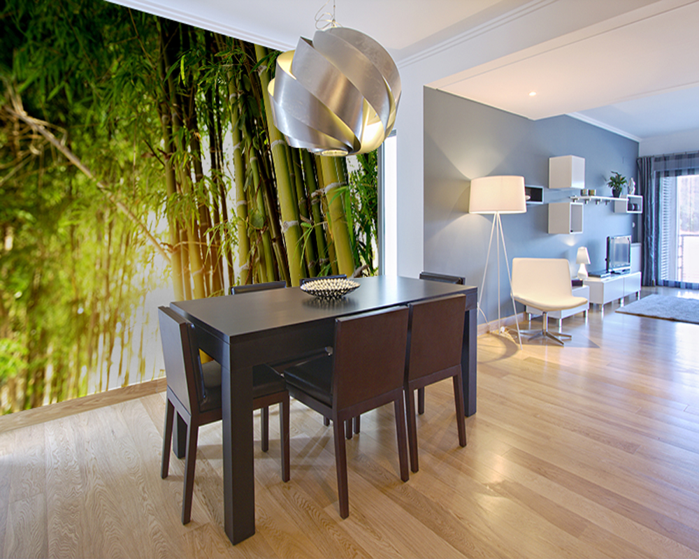 Nature Landscape Wallpaper, Green Bamboo Forest,3D Photo Mural For Living Room Bedroom Sofa Background Wall papel de parede  free shipping pine forest 3d landscape background wall living room bathroom bedroom home decoration wallpaper mural
