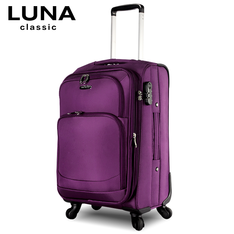 Commercial trolley luggage travel bag soft box universal luggage wheels luggage fashion the box