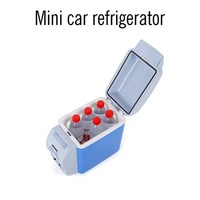 Capacity Portable Car Refrigerator Vehicle Food Cooler Warmer Truck Electric Fridge For Travel RV Boat 12V 7.5L