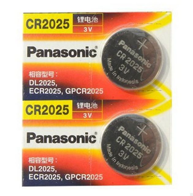 2 X Original Brand New Battery For Panasonic Cr2025 3v