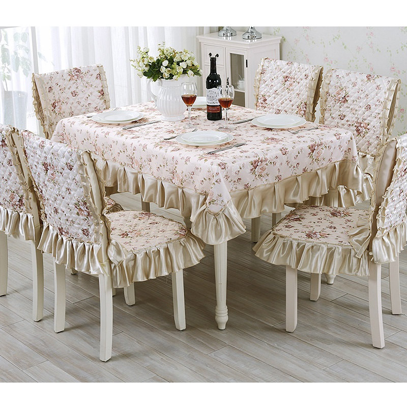US $66.5 30% OFF|13 Pieces/set Embroidery Table Cloth Set Vintage  Tablecloth For Wedding Hotel Decor Square Table Linen Dining Table Chair  Cover-in ...