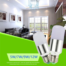 E27 E14 LED corn lamp 110V 220V LED bulb 7W 9W 12W LED light Chandelier Silver Gold Candle Light spot light For Home Decoration(China)