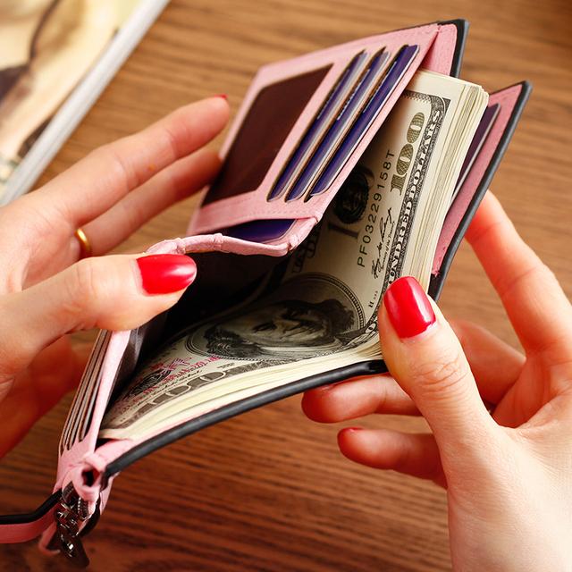 2019 Credit Card Holder Zipper PU Women Wallet