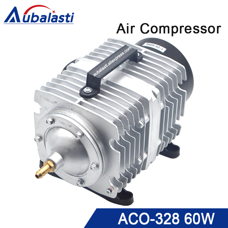 HAILEA 60W Air Compressor Electrical Magnetic Air Pump for CO2 Laser Engraving Cutting Machine ACO-328