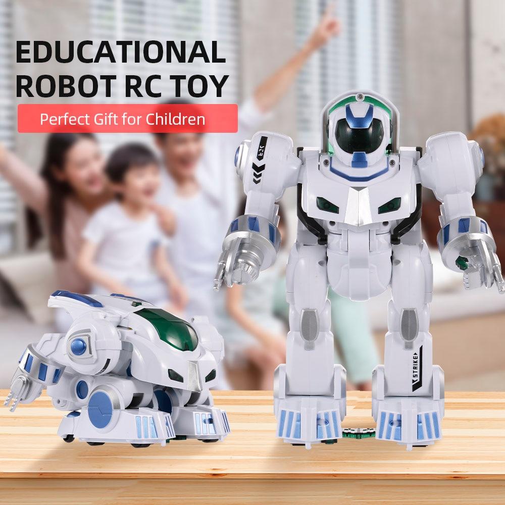 Intelligent ABS Plastic 2.4G Remote Control Battle Robot Kids Children Toys Gift