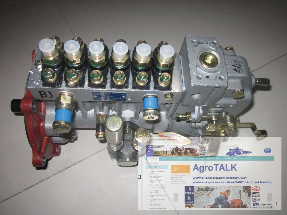 China YITUO engine parts, YTO X1304 tractor with LR6110T52B, the high pressure fuel pump assembly china yituo engine with high pressure fuel pump bh3w9540 the set of nozzles plungers and delivery valves for one engine use