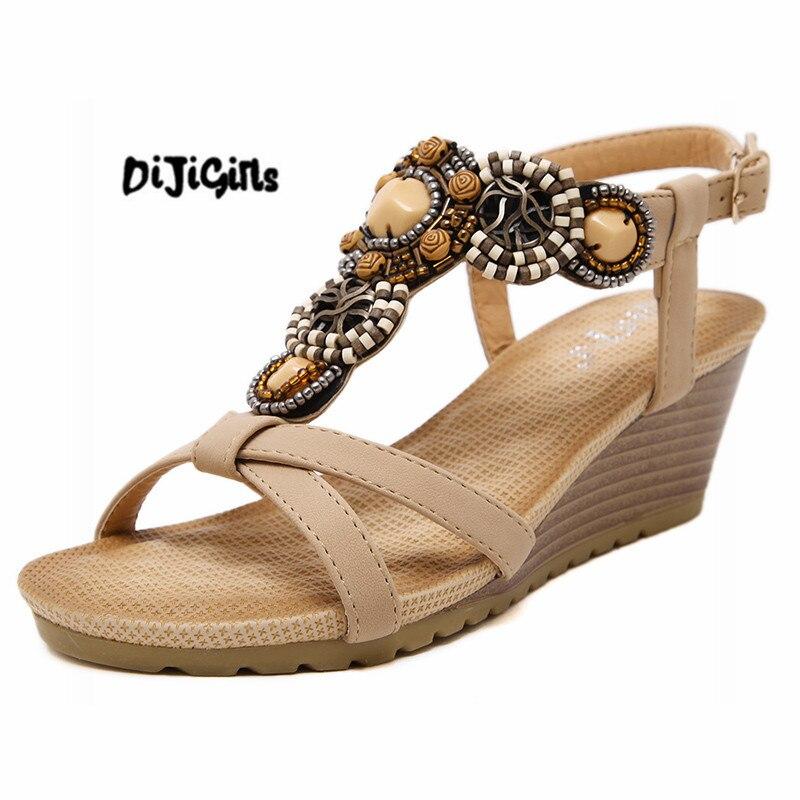 Wedge Sandals Women Sandals Fashion Summer Gladiator High Heels Sandals Wedges Shoes For Women Flip Flops Heels Sandalias excellent design sandalias femininas tassels sandal summer shoes fashion design high heels gladiator womens sandals shoes