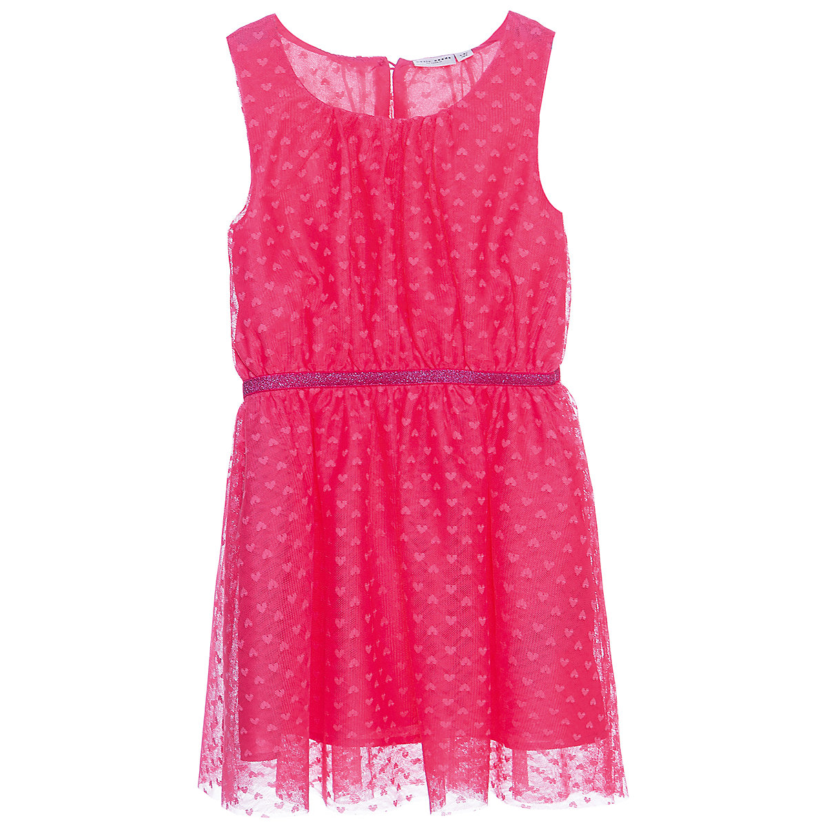 NAME IT Dresses 10623664 Dress girl children checkered pattern collar fitted silhouette sequins Polyester Casual Pink Sleeveless Sleeve stand collar golden dragon pattern long sleeve men s padded coat
