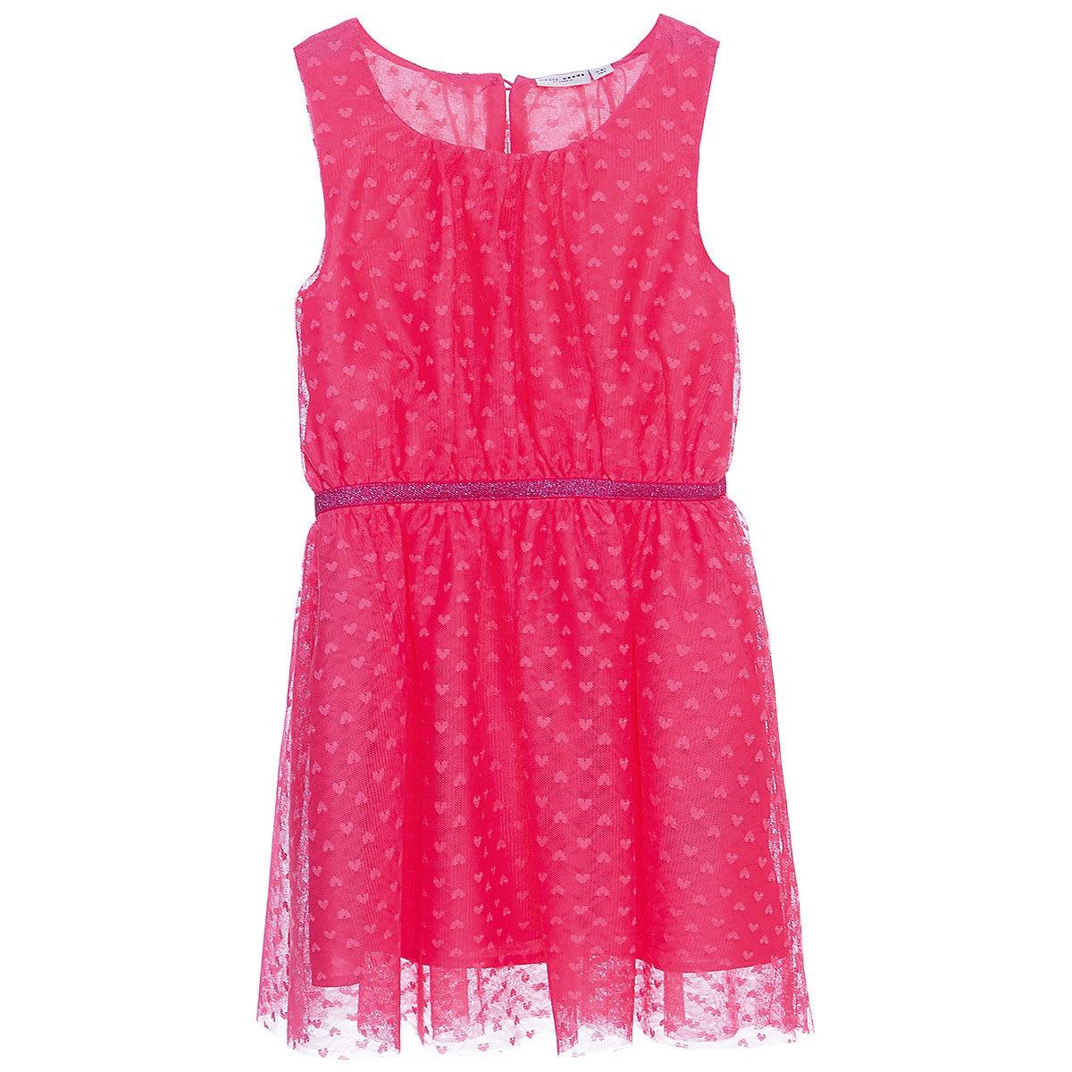NAME IT Dresses 10623664 dress for girls baby clothing fashion slim family long sleeve mesh dress for girls