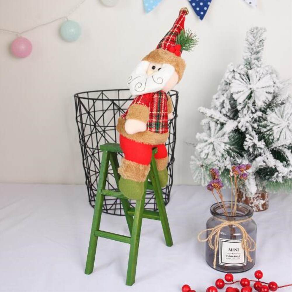 Us 11 7 11 Off New Wooden Christmas Decorations Santa Claus Ladder For Christmas Tree Wall Hanging Pendent Ornament Birthday Party Home Decor In