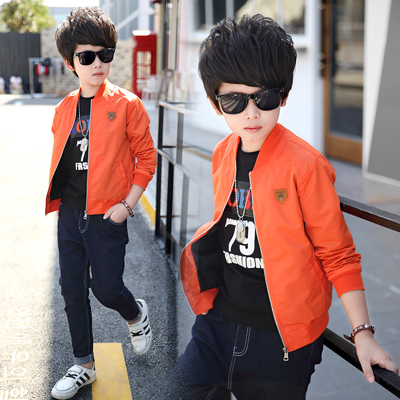ФОТО Kids boys spring / autumn jacket 2017 new baby boys fashion clothing big virgin casual coat 4/5/6/7/8/9/10/11/12/13/14
