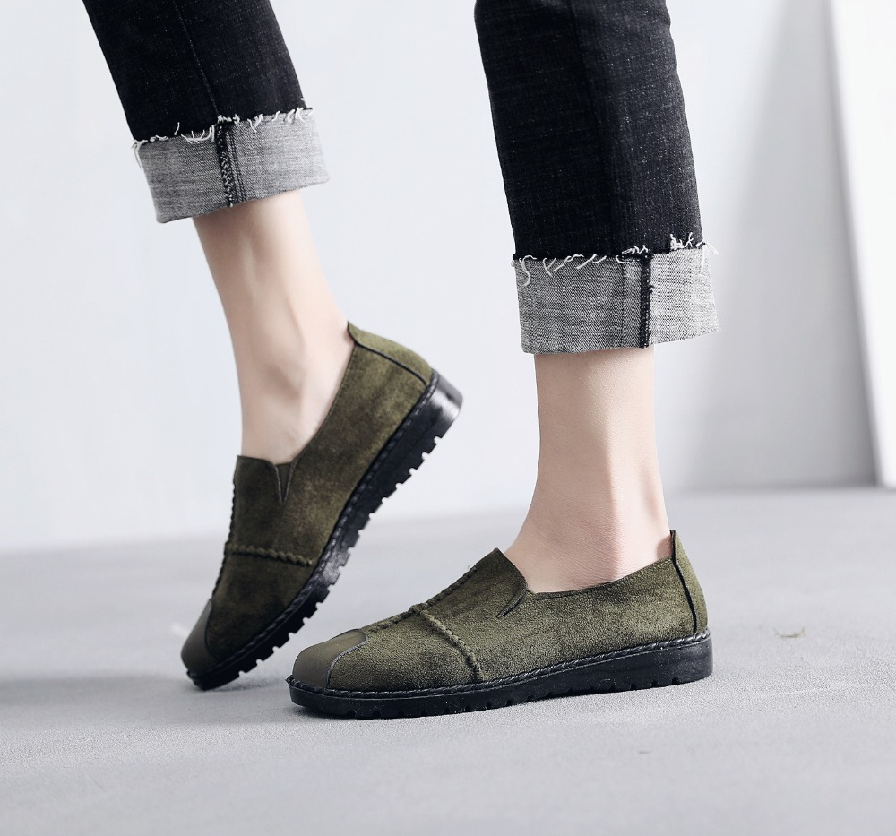 Plus Size Summer Women Flats Fashion Splice Flock Loafers Women Round Toe Slip On Leather Casual Shoes Moccasins New 2019 VT209 (18)