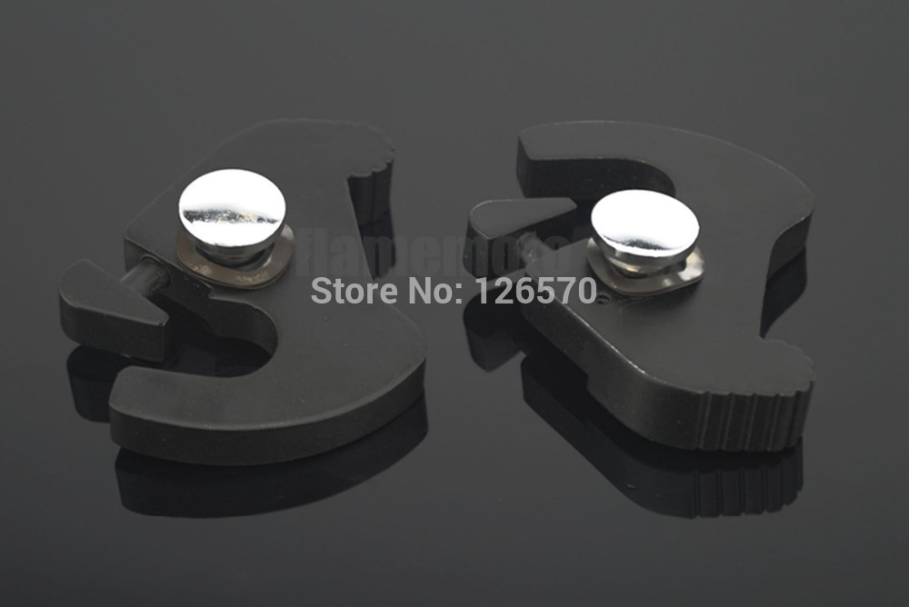 Black Detachable Rotary Sissy Bar Luggage Rack Latch Latches Clips Kit For Harley