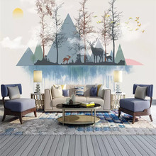 3d wallpaper mural living room tv bedroom home background art design modern abstract creative geometric art background wall все цены