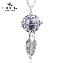 Eudora Harmony Dreamcatcher Locket จี้สร้อยคอ Femme Collier Colgante Angel Caller (China)