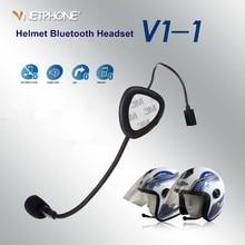 V1-1 Motorcycle Wireless Interphone Helmet Headset Earphone Mono Bluetooth 3.0 Motorcycle Intercomunicadores De Motos