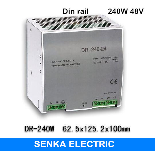 240W 48V 5A switching power supply din rail switching power supply smps MDR-240-48 russia tax free 3d woodworking cnc router cnc 6040 4 axis cnc milling machine with spindle 500w