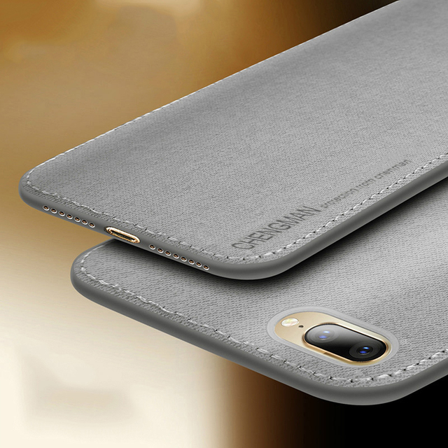 the latest c0af6 817f6 Vintage Cloth Phone Cases For iPhone 7 8 Plus Ultra Slim Business Fabric  Cloth Soft Protect Case For iPhone XS Max XS X XR 6 6S