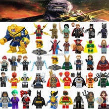 Figurine Marvel Avengers Infinity War Thanos Ironman Spider-man Hulk Batman Deadpool Cute Figurines Toys for Children Legoings(China)