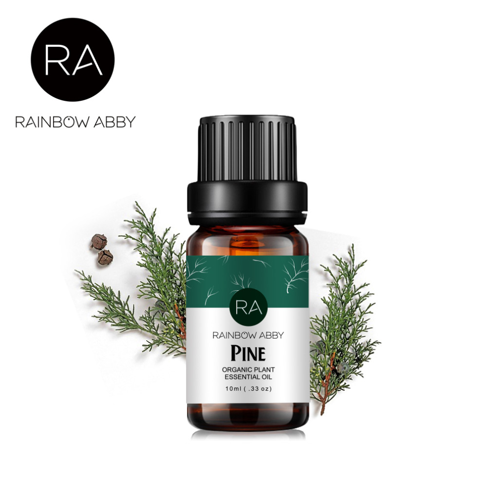 Natural Pine Essential Oil for Aromatherapy Diffusers 100% Plant Massage Oil Anti-inflammatory Antibacterial Relieve Anxiety