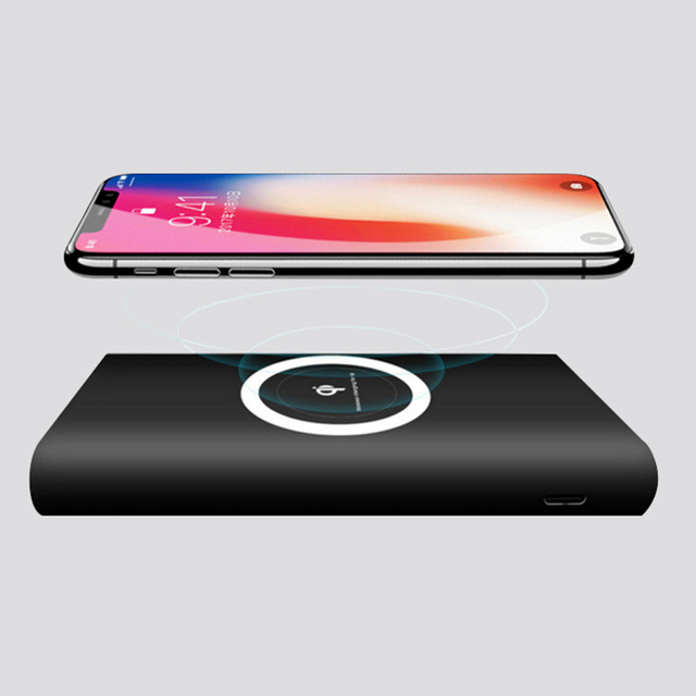 half off 2e3d4 9e46d US $18.3 19% OFF|Wopow QI Wireless Charger 10000 mAh PowerBank for iphone 7  6s samsung galaxy s6 s7 edge Portable type C Charge phone Powerbank-in ...