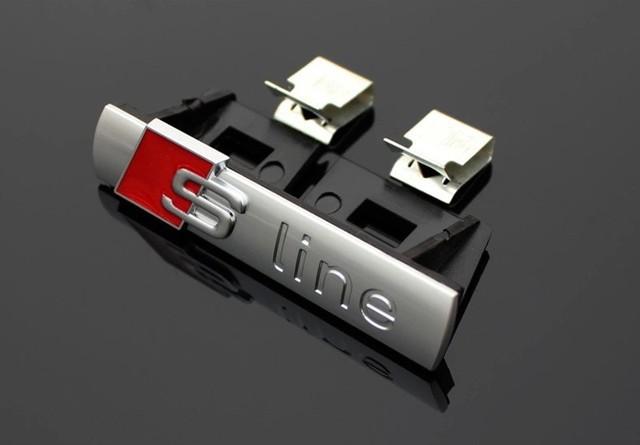 1 Pcs S Line Metal Car Front Hood Grill Badge Grille Emblem Logo Race For Audi A1 A3 A4 A5 A6 A7 A8 Q3 Q5 Q7 Tt Free Shipping
