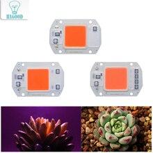 Smart IC УДАРА встроенный светодиодный чип AC220V высокое Мощность открытый прожектор витые бусины 20 W 30 W 50 Вт для подсветка для рассады
