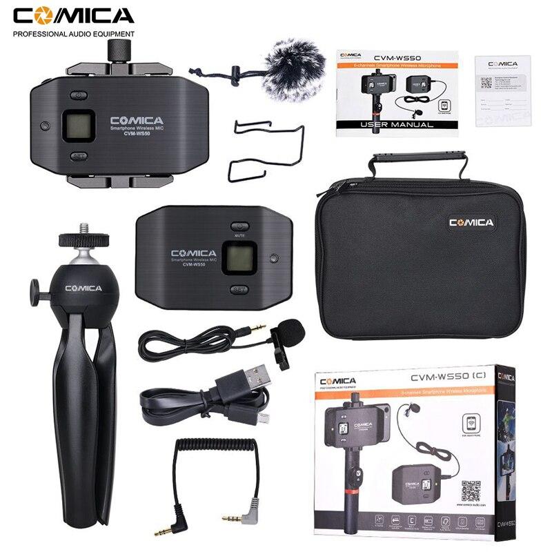 Image 5 - Micrófono inalámbrico para teléfono inteligente Comica CVM WS50 (C) 6 canales micrófono solapa Lavalier para iPhone Samsung Huawei teléfono Androidmicrófonos   -