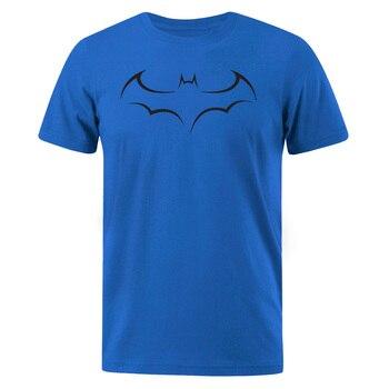 Camisetas para hombre, Top de algodón, camiseta a la moda con estampado de Batman para hombre, camiseta de manga corta de verano 2019, camiseta Casual con cuello redondo, ropa de calle