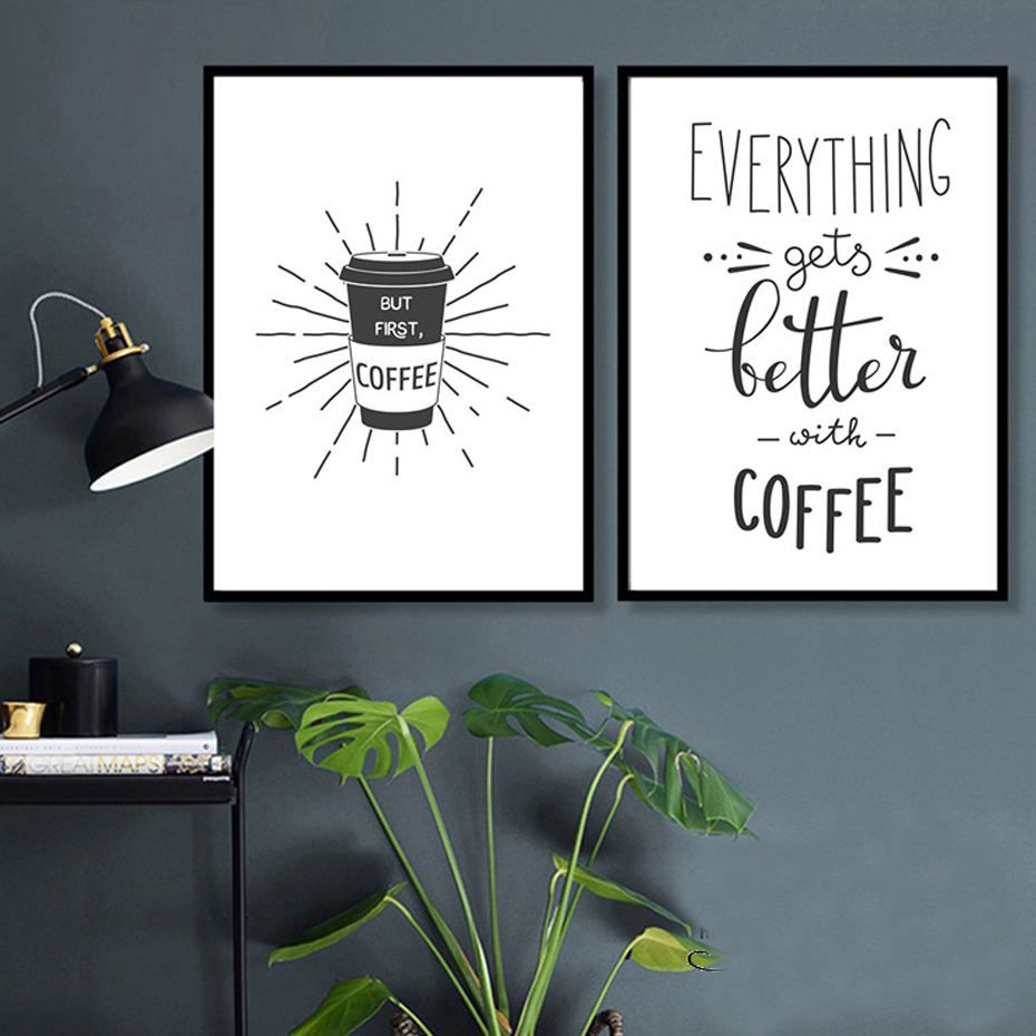 Coffee Is Always A Good Idea Kitchen Decor Prints Dining Room Wall Art Poster