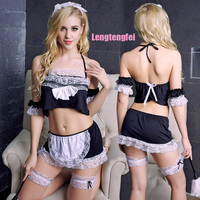 Women Sexy Lingerie Cosplay Game Uniform The Maid Role Playing Costume Erotic Lingerie Lace Sexy Underwear