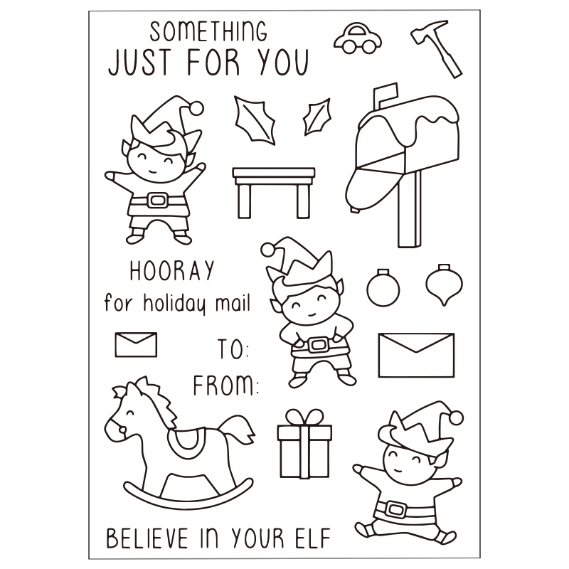 Happy Childhood Clear Silicone Rubber Stamp for DIY Scrapbooking/photo Album Decorative Craft Clear Stamp Chapter