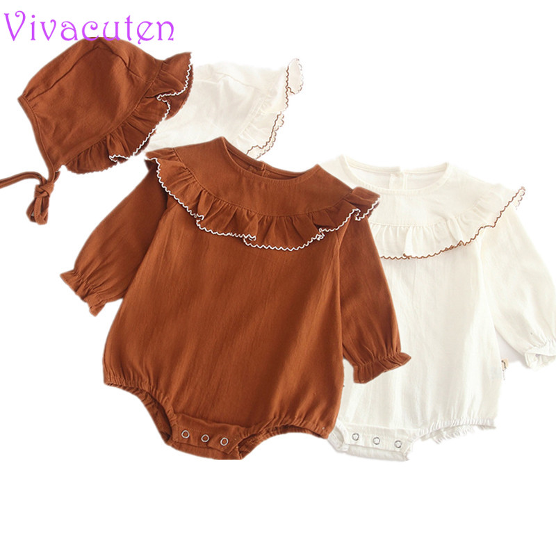 Helpful Newborn Baby Girl Knitting Romper Patchwork Ruffles Princess Jumpsuit Long Sleeve Autumn Winter Warm Knit Romper Outfits Clothes Rompers