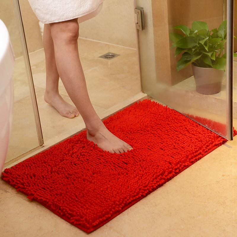Large Size 60*90cm/70*140cm Cheap Thicken Chenille Bath Mat, Bathroom Rug Carpet For Living Room Floor Mat Tapete De Banheiro