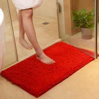Tamanho grande 60*90 cm/70*140 cm barato engrossar chenille tapete de banho, tapete do banheiro tapete para sala estar tapete tapete de banquinho