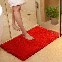 Tamanho grande 60*90cm/70*140cm barato grossa chenille tapete do banho, tapete de banheiro para sala de estar, tapete de banheiro