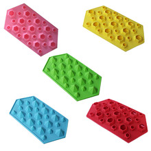 Diamond Mold Ice Cube Tray 27 Cavities Crystal Silicone Candy Dropship C530