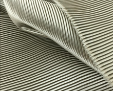"2 meters 150cm 59.05"" width light silver gray fine stripe crumple accordion pleated faux silk satin fabric MM2(China)"