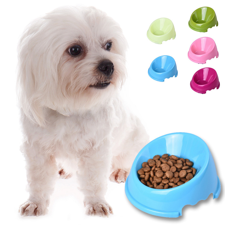 1 unids 14 * 14 * 3.5 cm Boca Oblicua Antideslizante Pet Dog Cat Food - Productos animales - foto 2