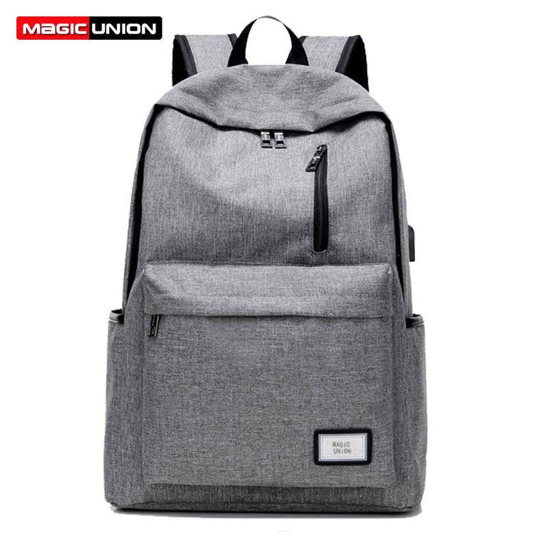 Student Bag Backbag School-Bag Laptop-Bags UNION Male Oxford MAGIC Fashion-Designer High-Capacity