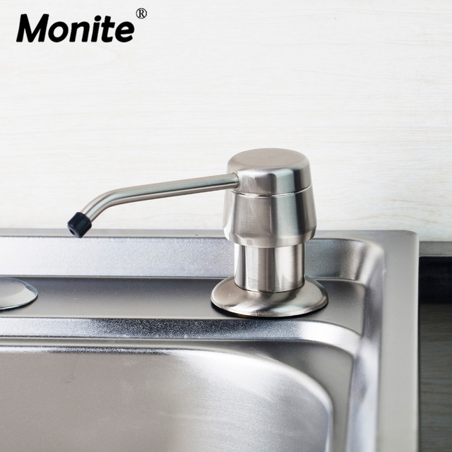 ABS Kitchen Sink Liquid Soap Dispenser Bottle Bath Accessories Deck Mounted  Detergent Bottle
