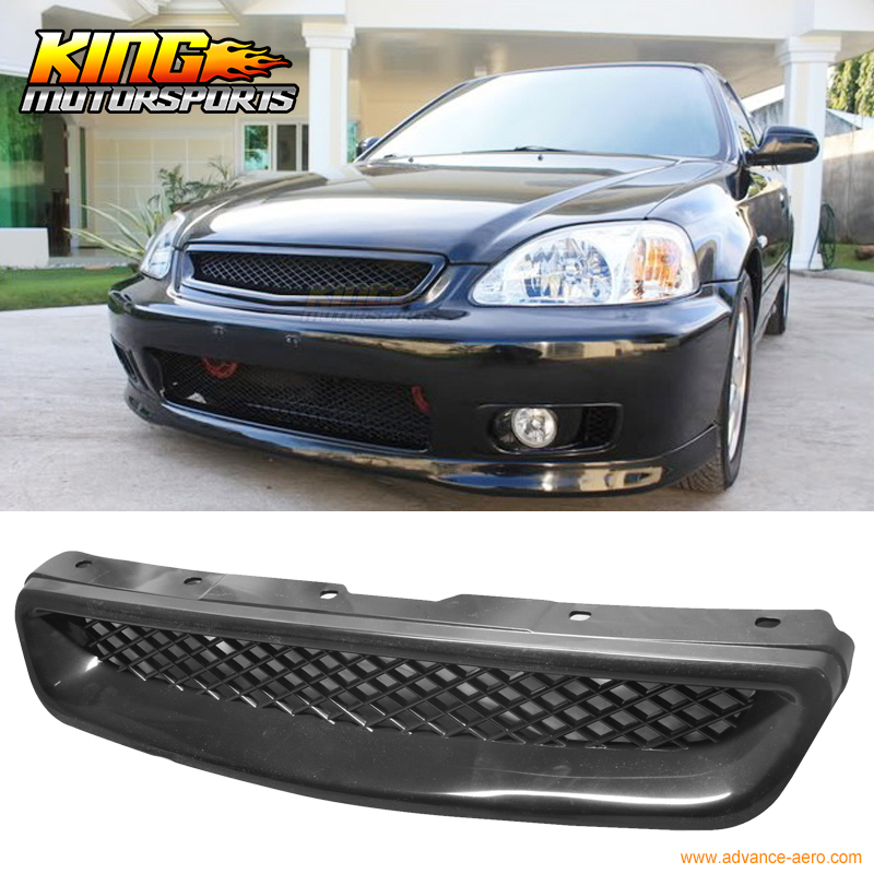 Fit For 99-00 Honda Civic EK CX DX EX HX LX JDM T-R Type Front Hood Grill Grille Abs USA Domestic Free Shipping Hot Selling