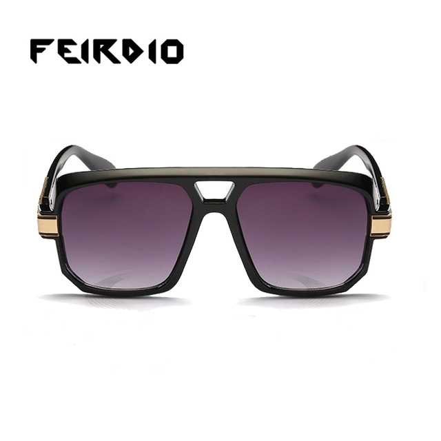 002ad26ff2991 Feirdio Newest Lady Masculino Sun Glasses Eyeglasses Gothic Purple Square Oculos  De Sol Gafas Night Driving Glasses Outdoor