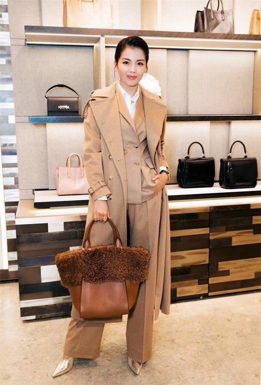 Корейский шерстяные пальто мода плюс Размеры X длинные 2018 зимние серые Шерстяное пальто Новинки для женщин Двусторонняя двубортный женский