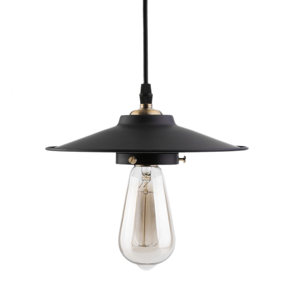 2017 New Modern Pendant Lamp Vintage Rustic Metal Lampshade Light Lustre Shade Hanging Lamp Fixture Industrial Include Bulb