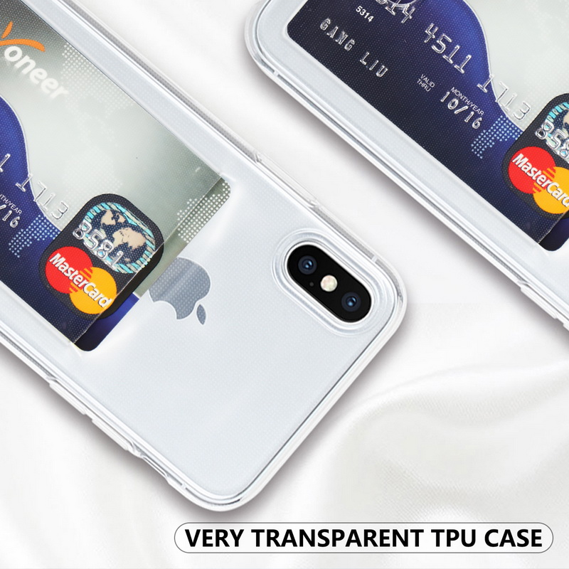 Transparent Soft TPU Card Holder Case for iPhone 11/11 Pro/11 Pro Max 33