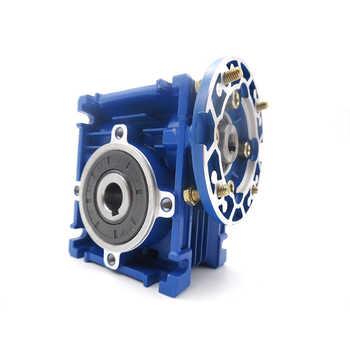 NMRV030 56B14 Worm Gear Reducer Ratio 30:1 for 3 Phase 380v or Single/2 Phase 220v 4 Pole 2400r/min 180w Asynchronous Motor