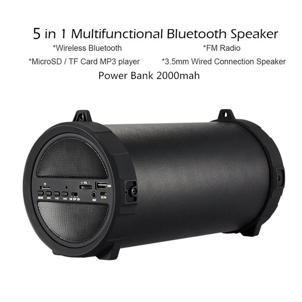 Akaso Multifu Sans Fil profonde basse Bluetooth Haut-Parleur Extérieur Puissance Banque 10 W Grande Puissance Portable USB Stéréo Subwoofer Sound Box