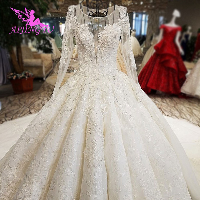 AIJINGYU Weddingdress Long Train Gowns Affordable Websites Summer Bridal Accessories Stores Women Polka Dot Gown Wedding Colors